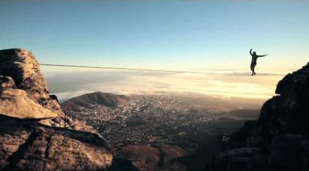 Walking A Tight Rope On Table Mountain Video Mr Cape Town