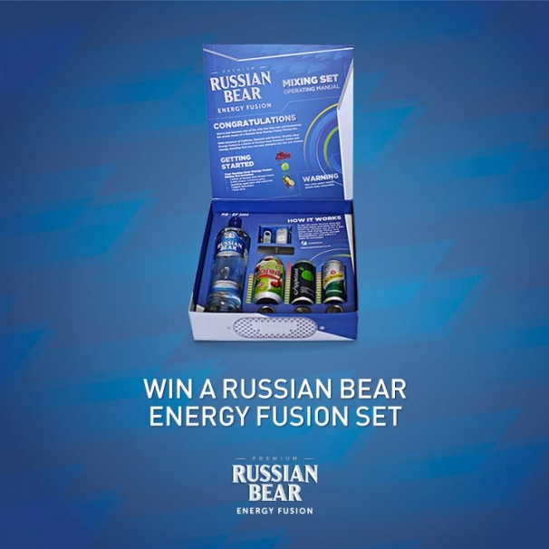 New Russian Bear Energy Fusion Vodka Mr Cape Town