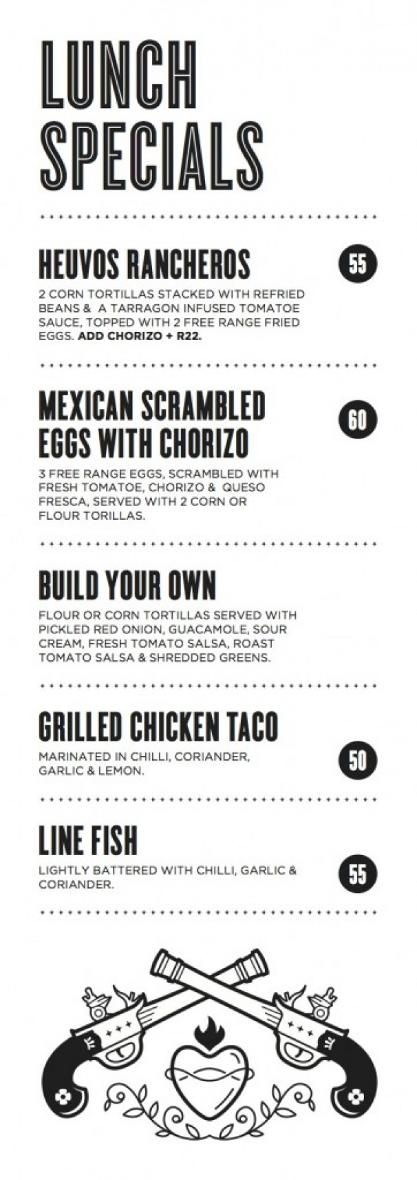 El burro mexican lunch specials mr cape town for Lunch specials