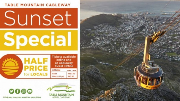 Table Mountain Cableway Sunset Special Mr Cape Town