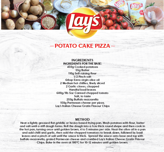 Lay's _ Potato Cake Pizza_ Recipe