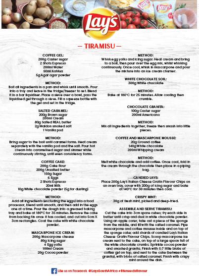 Lay's _Tiramisu _ Recipe